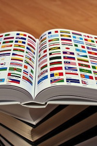 Flags in a book