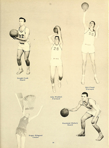 Gaston College Men's Basketball Players, 1959