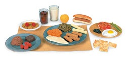 Children's Nutrition Faux Food Models Set