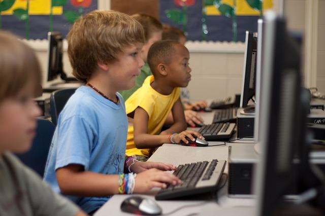 Students at a Computer Image