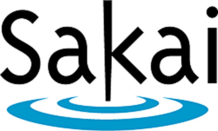 Sakai logo, link to Sakai at PC