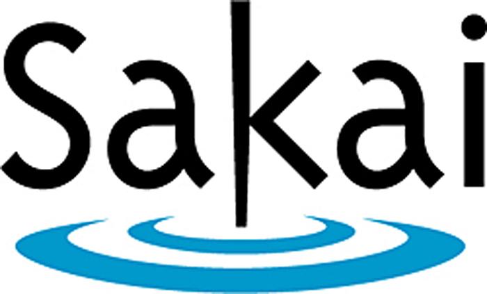 Sakai logo, link to Sakai at PC