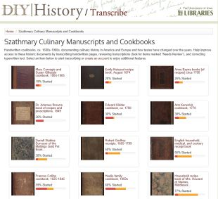 Szathmary Culinary Manuscripts and Cookbooks