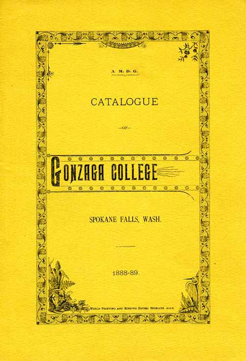 Item 3: Catalogue of Gonzaga College, 1888 - 1889