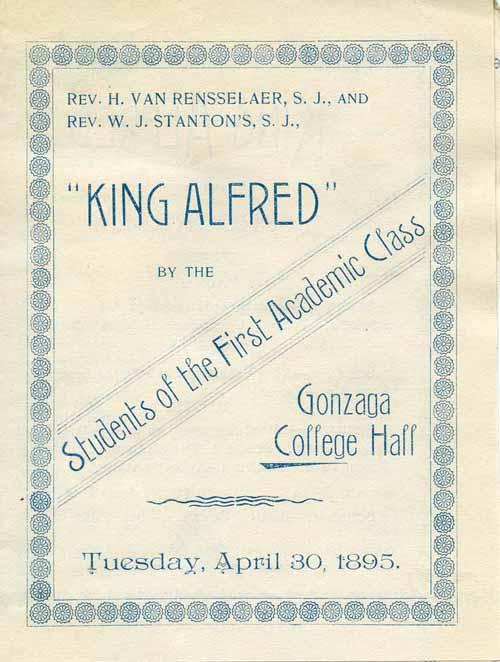 "Item 7: ""King Alfred"" Program, April 30, 1895"