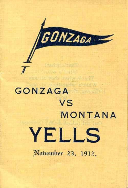 Item 15: Gonzaga vs. Montana: Cover: Yells, November 23, 1912