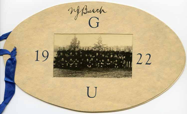 Item 17: 1922 Football Banquet Menu/ Program, January 11, 1923