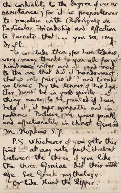 5/6 Autograph letter to Jesuit friends, 17 August 1882