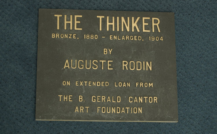 """Item 83: """"The Thinker"""" by Auguste Rodin Plaque, 1986"""