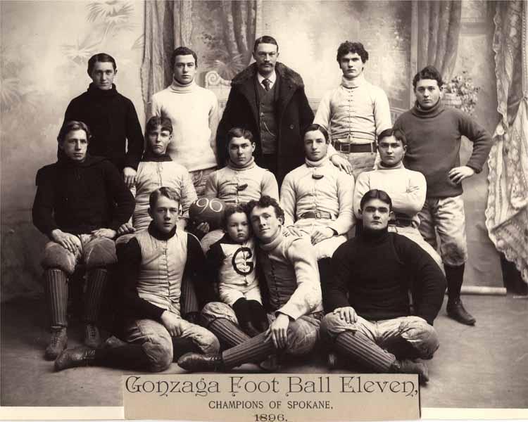 "Item 96: ""Gonzaga Foot Ball Eleven: Champions of Spokane,"" Football Team, 1896"