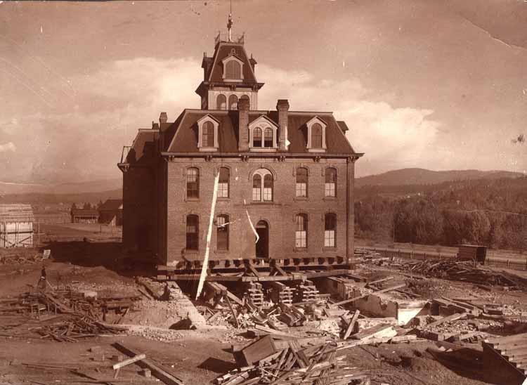 Item 98: Moving Original College Building, 1900