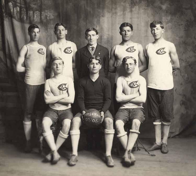 Item 99: Freshmen Basketball Team, 1907 - 1908