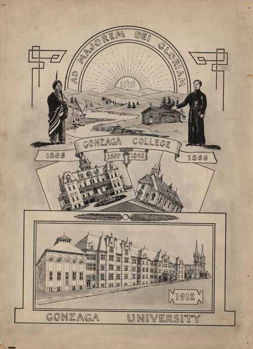 Item 101: Gonzaga Silver Jubilee Artwork, 1912