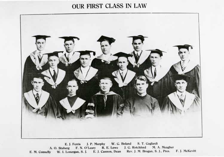 Item 103: First Class of Law Graduates, 1915