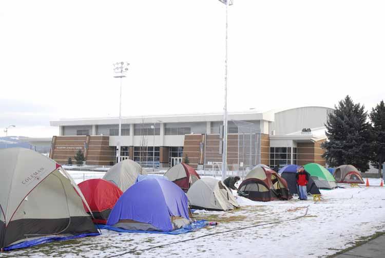 Item 123: Tent City for Men's Basketball Game against University of Washington, 2006