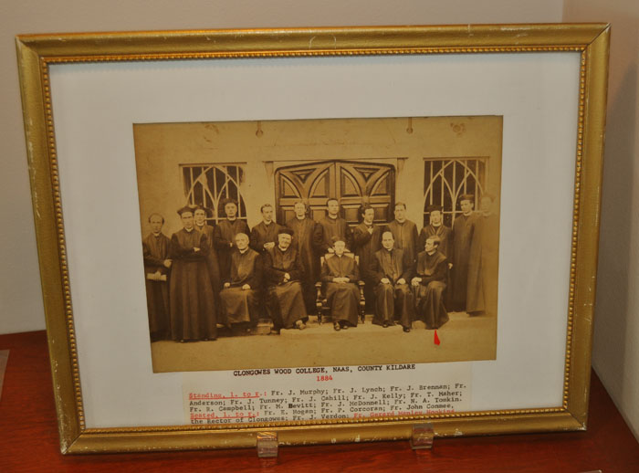 With colleagues and fellow priests at Clongowes Wood College, c. 1884 (BRC 12:26)