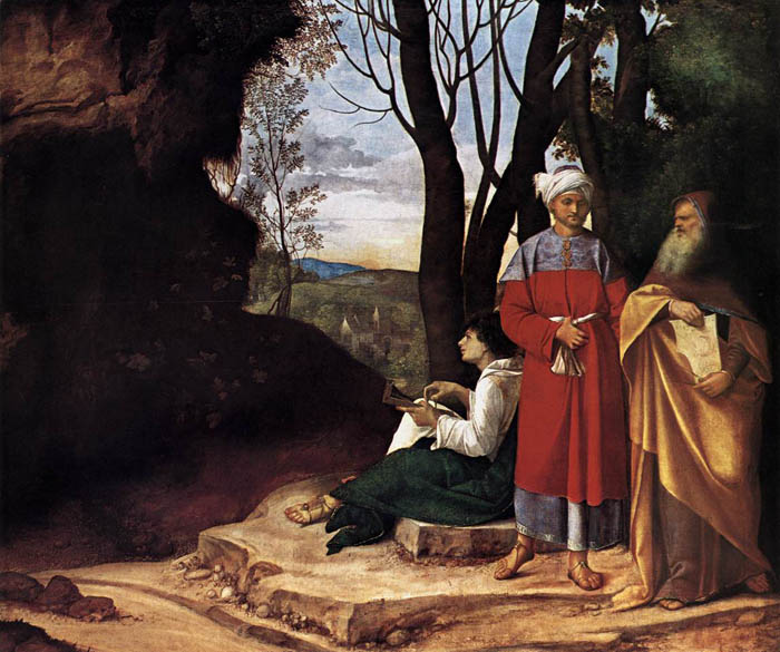 Reproduction of painting: Giorgione, Three Philosophers (1509)