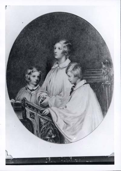 Photograph with brothers Arthur and Cyril, c. 1855-56 (BRC 10:1)