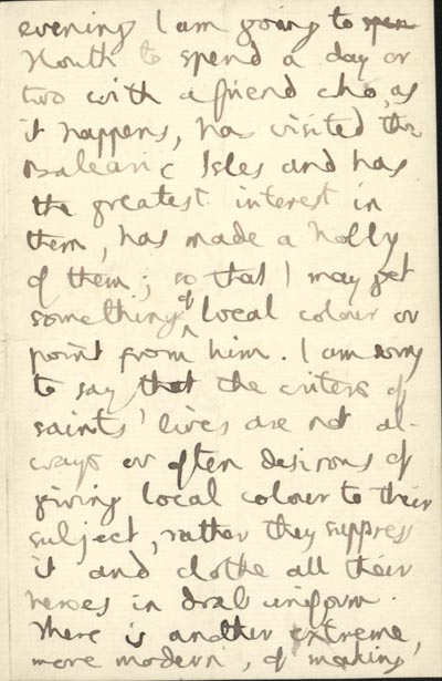 part 2/3: Hopkins' letter to Francis Goldie, S.J., 20 September 1888 (BRC 1:4)