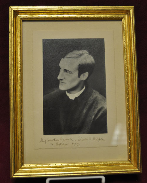 Photograph of a Hopkins portrait, c. 1884