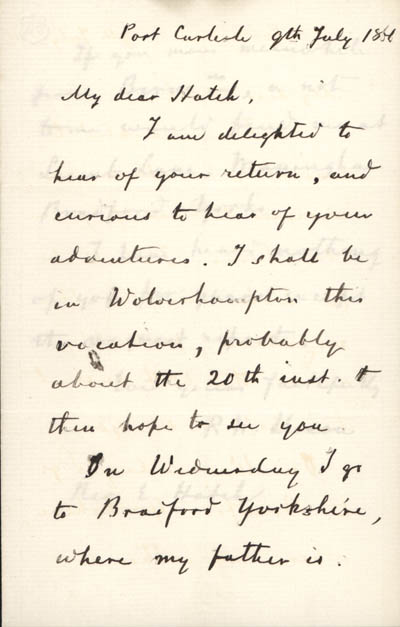 part 1/2: Letter from Dixon to Edward Hatch, 9 July 1866 (BRC 21:1)