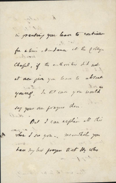 Letter, part 2/3: Letter from Newman to Hopkins, 18 October 1866 (BRC 1:46)