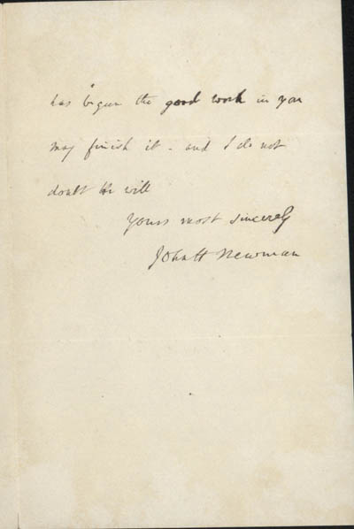 Letter, part 3/3: Letter from Newman to Hopkins, 18 October 1866 (BRC 1:46)