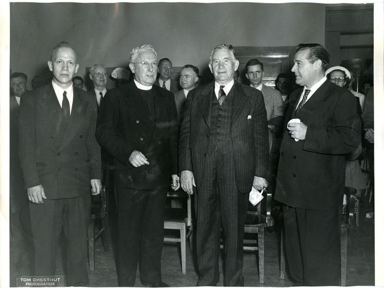 U.S. Vice President Alben Barkley at Law School Heidelburg Night, October 12, 1950