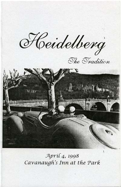 Heidelberg: The Tradition, Program, April 4, 1998