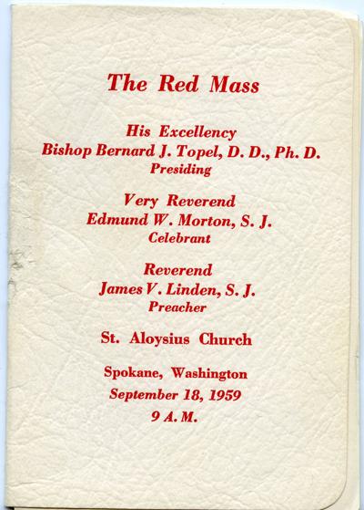 The Red Mass, Program, September 18, 1959
