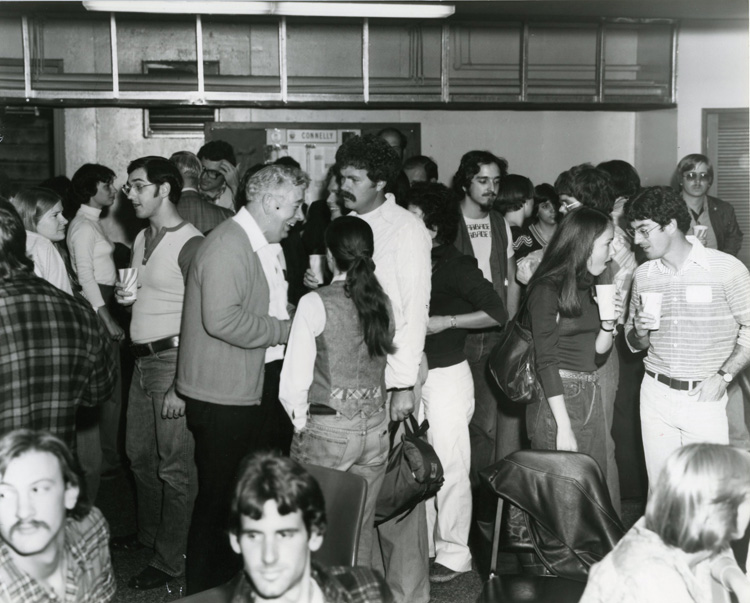Law Students and Faculty at a Social Gathering, 1970s