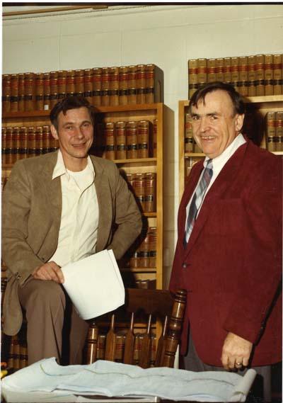 Gary Randall (Professor: 1973 - 2008) and Frank Conklin, SJ (Professor/Dean: 1965 - 1966, 1975 - 1978)