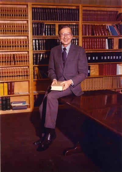 "Professor Smithmoore P. ""Smitty"" Myers (Dean: 1955 - 1965, 1975 - 1978)"