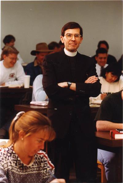 Fr. Robert Araujo, S. J. (Professor: 1994 – 2005)