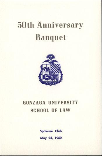 50th Anniversary Banquet, May 24, 1962