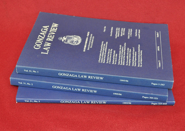 Gonzaga Law Review. Volume 31 Part I, Part II, and Part III, 1995-1996
