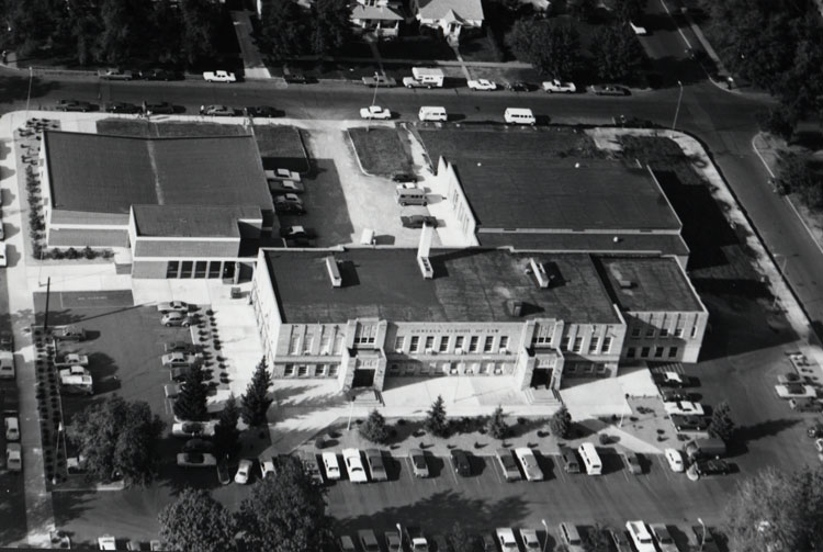 Aerial View of Law Library and Classrooms, undated