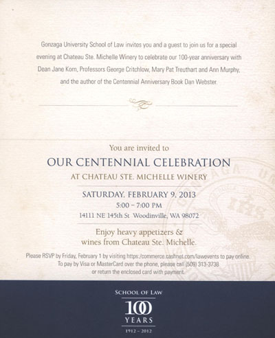 Law School Centennial Celebration, 2012