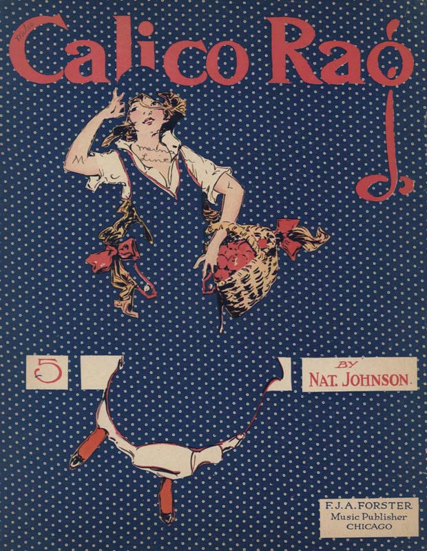 "Johnson, Nat. ""Calico Rag"". Chicago: F. J. A. Foster. 1914. (HW-02517)"