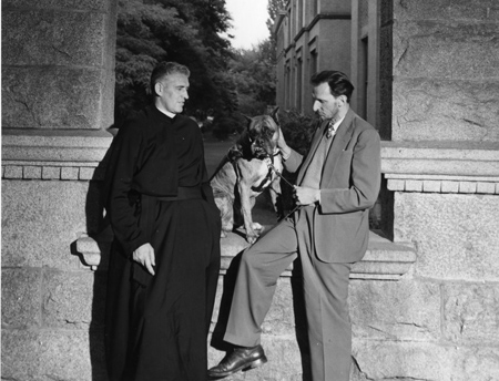 Fr. Arthur Dussault, SJ, Wizard and Hector Chevigny at Gonzaga University