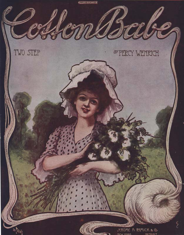 "Wenrich, Percy. ""Cotton Babes: Rag Two-Step"". Illus. Andre C. De Takacs. New York: Jerome H. Remick & Co. 1909. (HW-00751)"