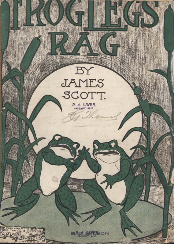 "Scott, James. ""Frog Legs Rag"". St. Louis: John Stark & Son. 1906. (HW 01331)"