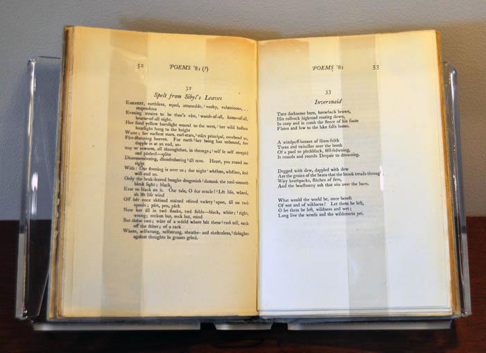 1st edition of Hopkins's poetry, ed. Robert Bridges (Oxford, 1918)