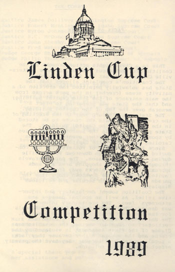 Linden Cup Competition Program, 1989