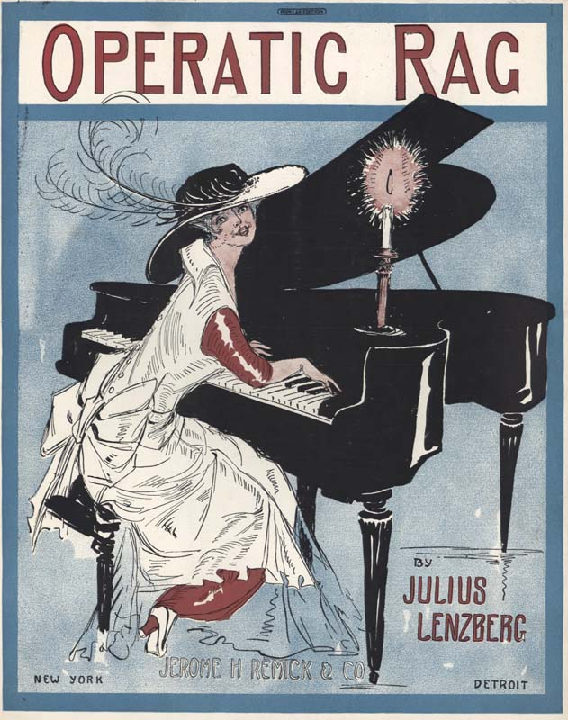 "Lenzberg, Julius. ""Operatic Rag"". New York: Jerome H. Remick & Co. 1914. (HW-02475)"