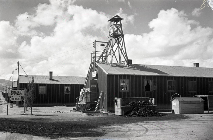 Heart Mountain Police Station with Guard Tower, 1944