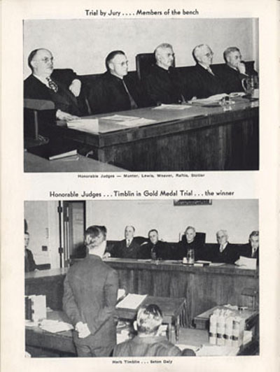 Eleventh Annual Medal Competition in Legal Argumentation, Spires, 1946 -1947