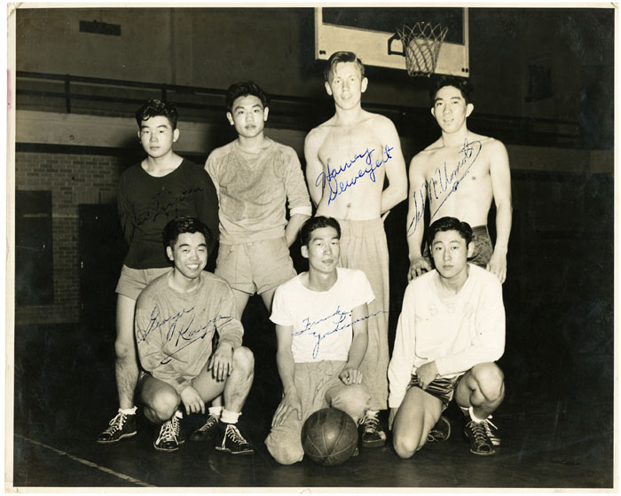 Intramural Basketball Team, Washington State College, 1945