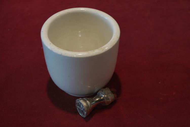 Item 12: Shaving Ceramic Cup and Brush, no date