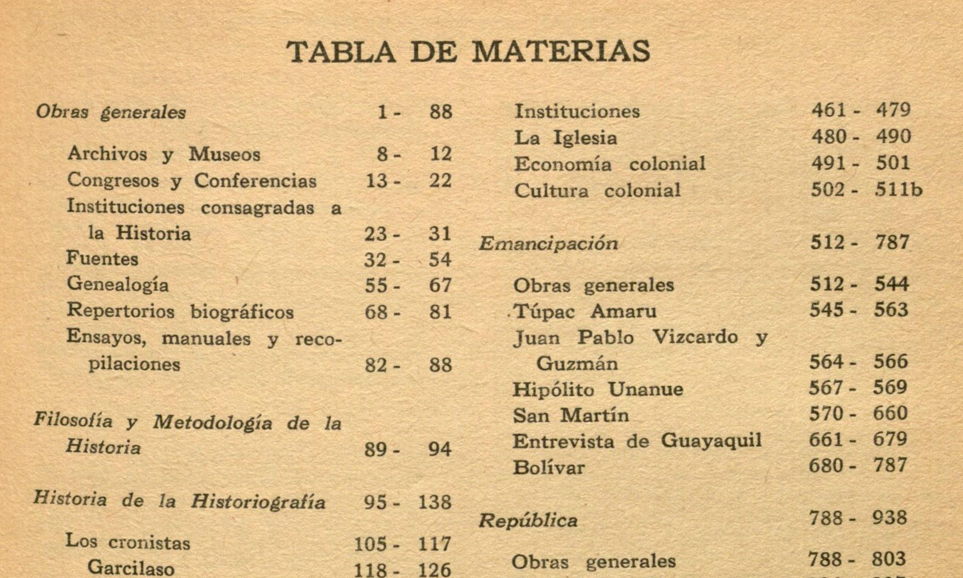 bibliografia historia